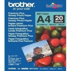 Brother fotopapír BP71GA4, 20 listů, A4, Premium Glossy, 260g - BP71GA4